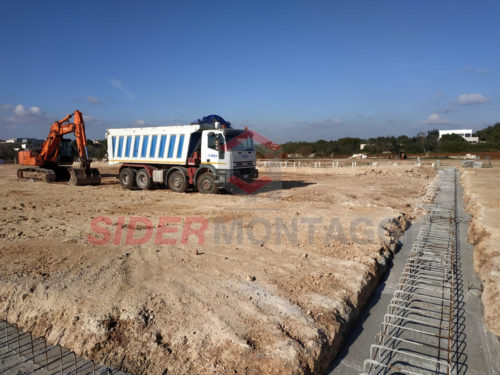 Fondazioni avvio capannone forno pronto